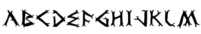 Dragon Order Font LOWERCASE