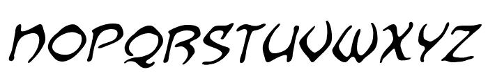 Dragonbones BB Italic Font UPPERCASE