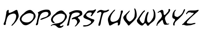 Dragonbones BB Italic Font LOWERCASE