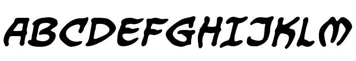 DragonbonesBB-Bold Font UPPERCASE