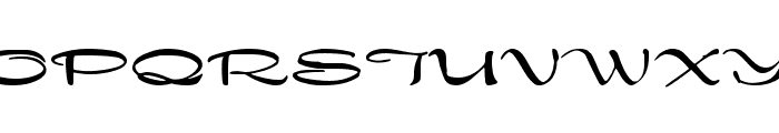 Dragonfly Font UPPERCASE