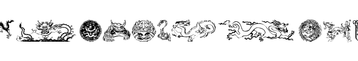 Dragons Font LOWERCASE