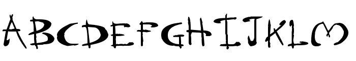 Dragonsong Font UPPERCASE