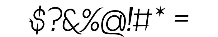 DrakoheartLeiendItalic Font OTHER CHARS