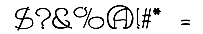 Draughtsman Font OTHER CHARS