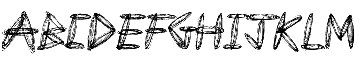 Draw Freehand Font UPPERCASE