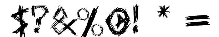 Drawing Blood Font OTHER CHARS
