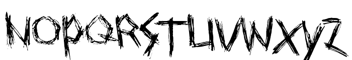 Drawing Blood Font LOWERCASE