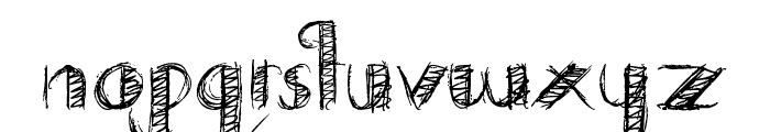 Drawing Practice Font LOWERCASE