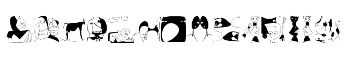 Drawings Font LOWERCASE