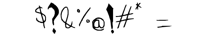 Drawn Old English Font OTHER CHARS