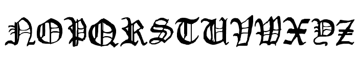 Drawn Old English Font UPPERCASE