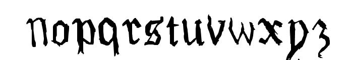 Drawn Old English Font LOWERCASE