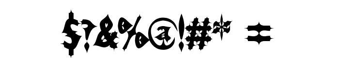Drax Luma AOE Font OTHER CHARS
