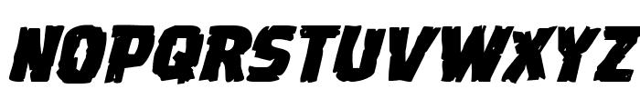 Dread Ringer Expanded Italic Font UPPERCASE