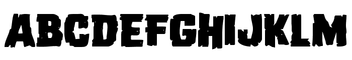 Dread Ringer Expanded Font LOWERCASE