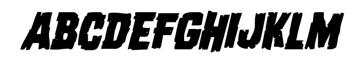 Dread Ringer Italic Font LOWERCASE