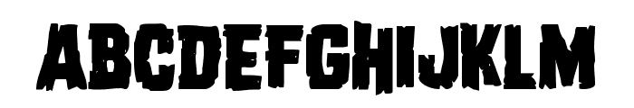 Dread Ringer Staggered Font LOWERCASE