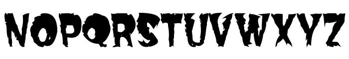 Dread Font UPPERCASE