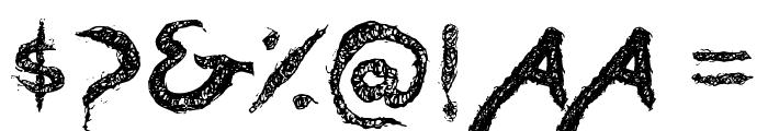 Dreadlockfont Font OTHER CHARS