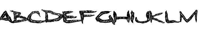 Dreadlockfont Font LOWERCASE