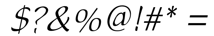 DreamerOne Italic Font OTHER CHARS