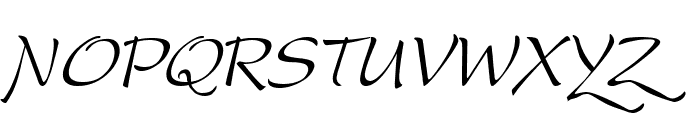 DreamerOne Italic Font UPPERCASE