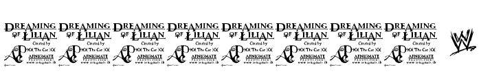 Dreaming of Lilian Font OTHER CHARS