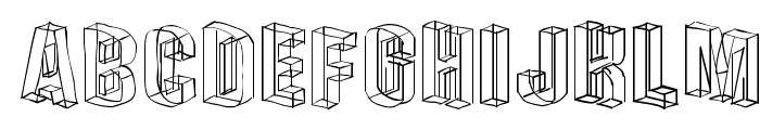 DreiDeeSketches Font UPPERCASE