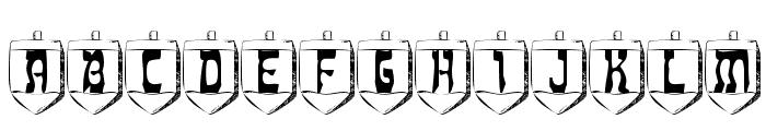 Dreidl Font UPPERCASE