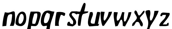 Drek NormalItalic Font LOWERCASE
