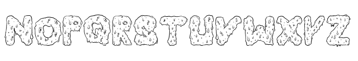 Dripping Cool Font UPPERCASE