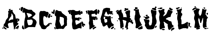 Drippy Font UPPERCASE