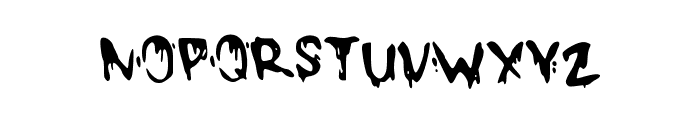 DrippyMcDrip Font UPPERCASE