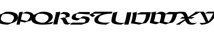 DriscollSSK BoldItalic Font UPPERCASE
