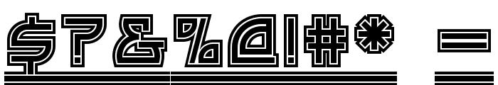 Drive-Thru NF Font OTHER CHARS