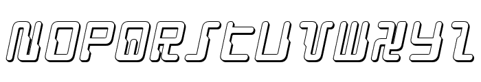 Droid Lover 3D Italic Font LOWERCASE