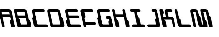 Droid Lover Leftalic Font UPPERCASE