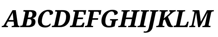 Droid Serif Bold Italic Font UPPERCASE