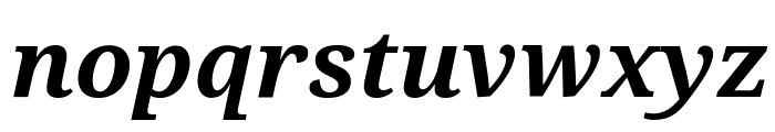 Droid Serif Bold Italic Font LOWERCASE