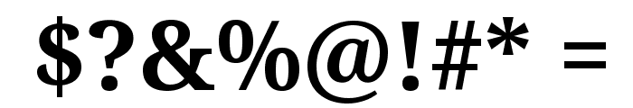 Droid Serif Bold Font OTHER CHARS