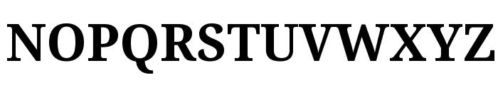 Droid Serif Bold Font UPPERCASE