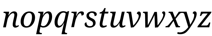 Droid Serif Italic Font LOWERCASE