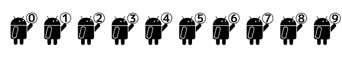 Droid_Robot Font OTHER CHARS