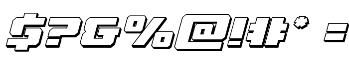 Drone Tracker 3D Italic Font OTHER CHARS