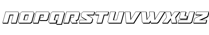 Drone Tracker 3D Italic Font UPPERCASE