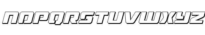 Drone Tracker 3D Italic Font LOWERCASE