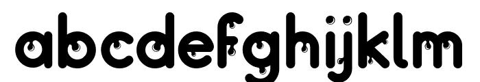 Drops Font LOWERCASE