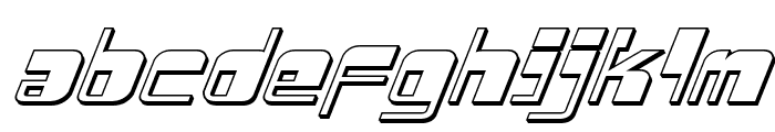 Drosselmeyer 3D Italic Font LOWERCASE