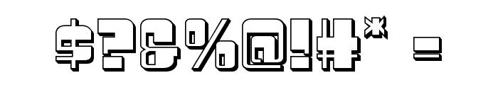 Drosselmeyer 3D Font OTHER CHARS